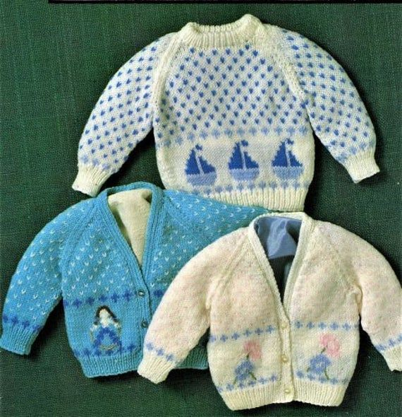 Nearly Free Baby Knitting Pattern, Cardigan and Jumper ...