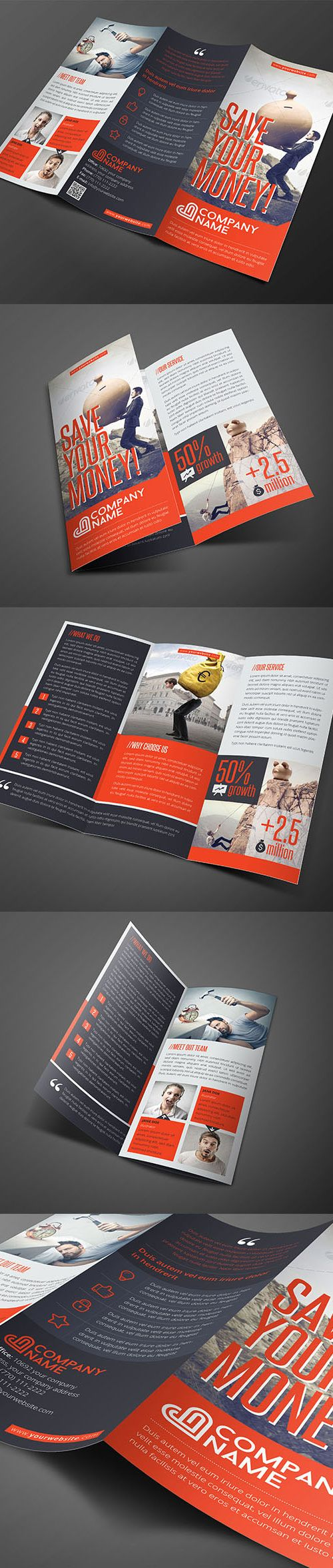 Corporate #brochure design and template.