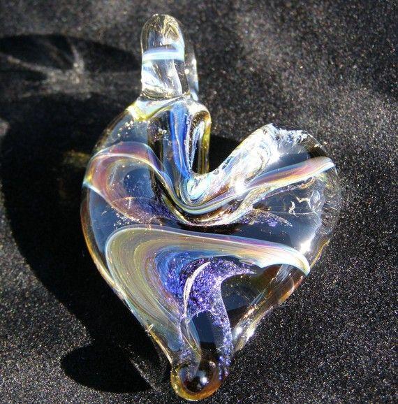 Cremation Memorial Keepsake Glass Ash Pendant Necklace