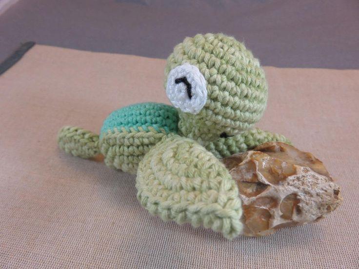 Amigurumi tortue, Tortue au crochet, Amigurumi petite tortue de mer, décoration amigurumi animaux fait-main, peluche coton et acrylique de la boutique ArtKen6L sur Etsy