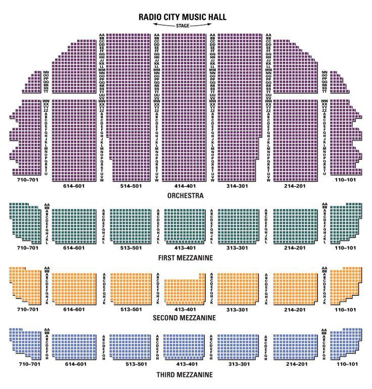Radio City (MSG Ticketmaster) Seating charts, Radio