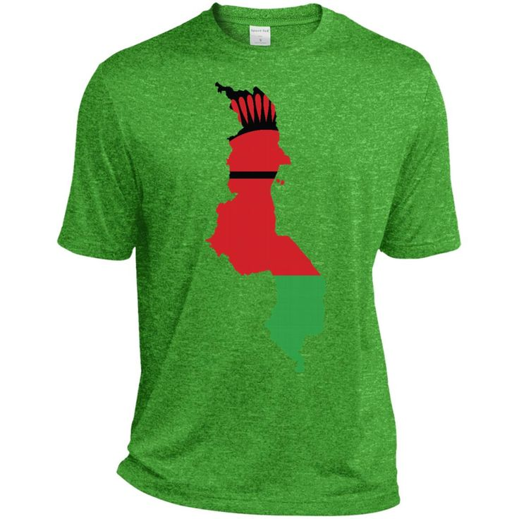 Malawi flag ST360 Sport-Tek Heather Dri-Fit Moisture-Wicking T-Shirt