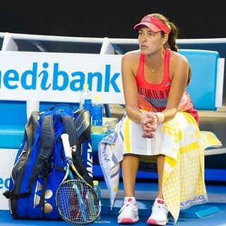 Sad Ana waiting... Today her coach Nigel Sears collapsed during her match, while during her previous match an ambulance came to help a spectator #ausopen2016