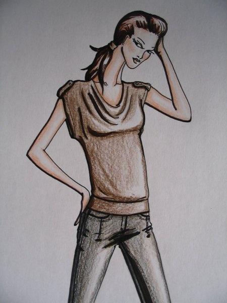 my draw of fashion design