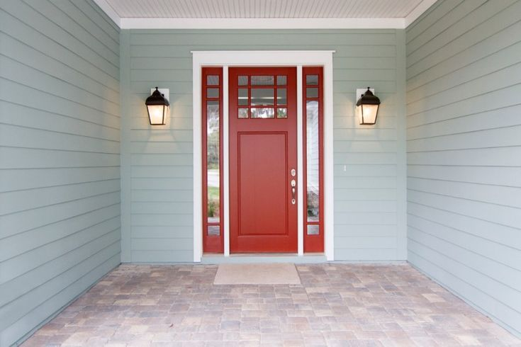 craftsman style front door lamps red colour beach style entry of Elegantly Beautiful Craftsman Style Front Doors to be Amazed By