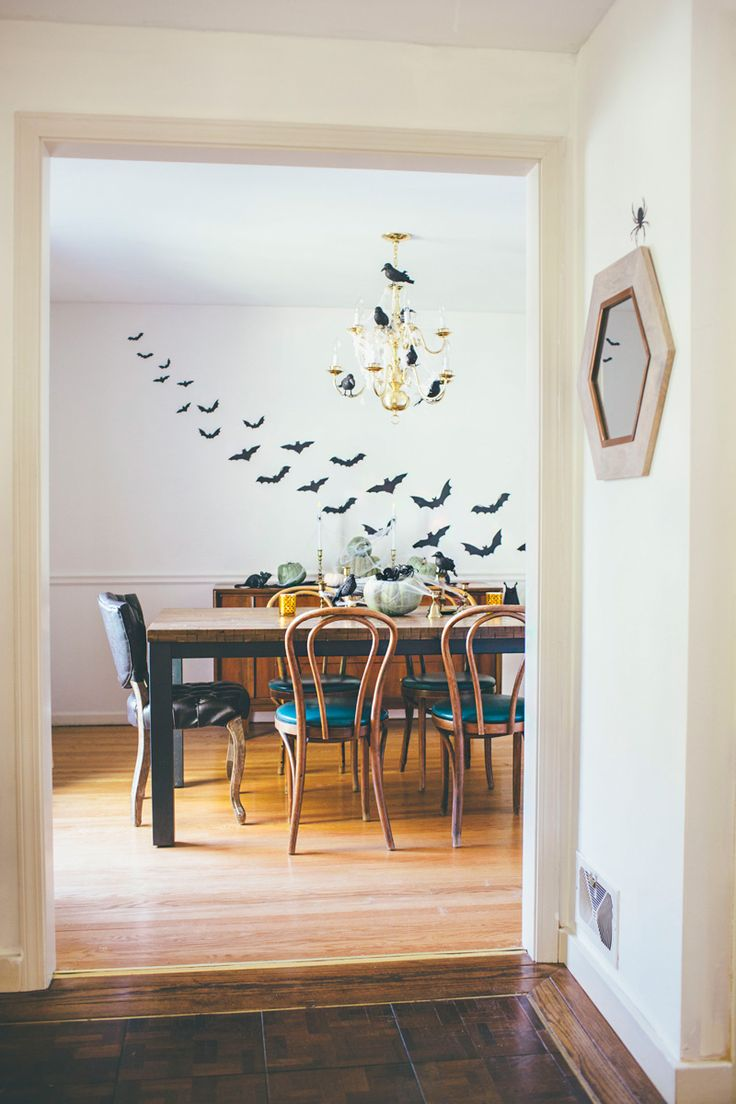 Vintage Eclectic Halloween Dining Room