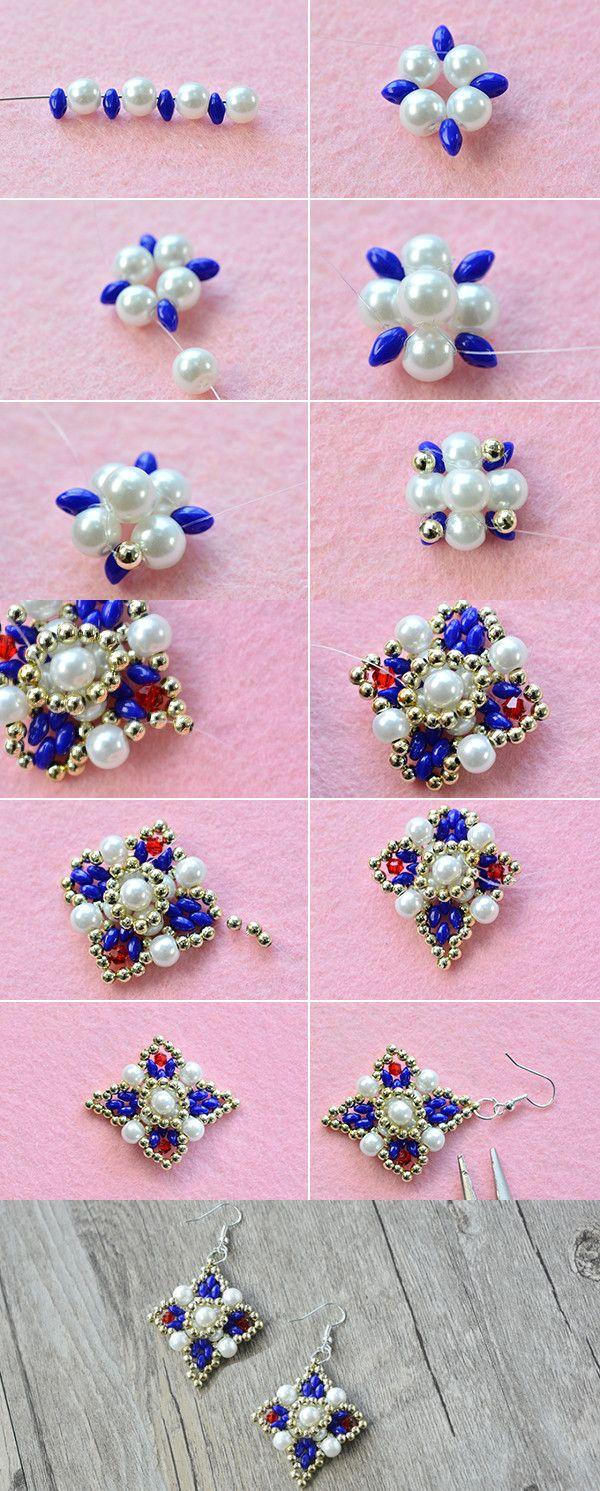 2-hole seed beads earrings, wanna them? LC.Pandahall.com will publish the tutorial soon. #pandahall