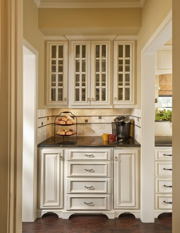 Simple Kitchen with Practical Furniture Pantry Cabinet