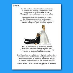 Wedding Gift Money Poems For Invites Funny Bride Pulling ...