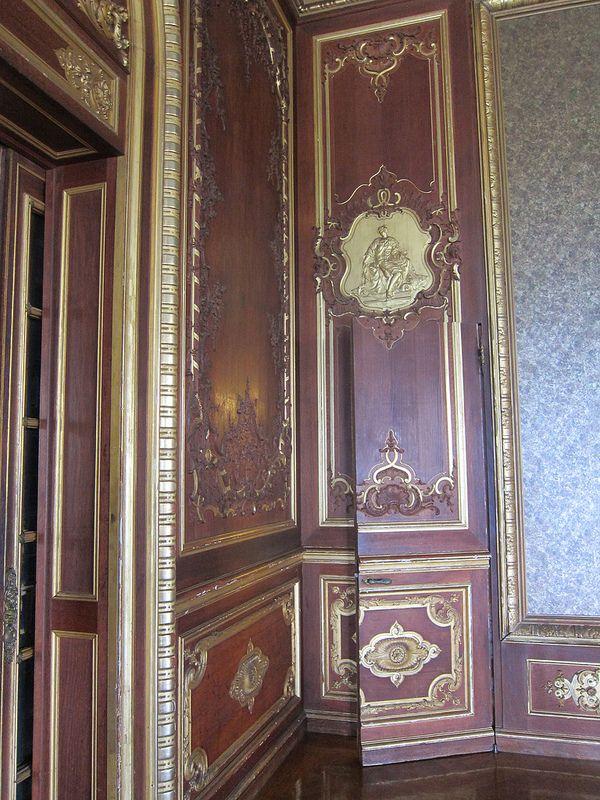 Ochre court dining room service door to the pantry treated as a jib door · interior doorsinterior designhidden