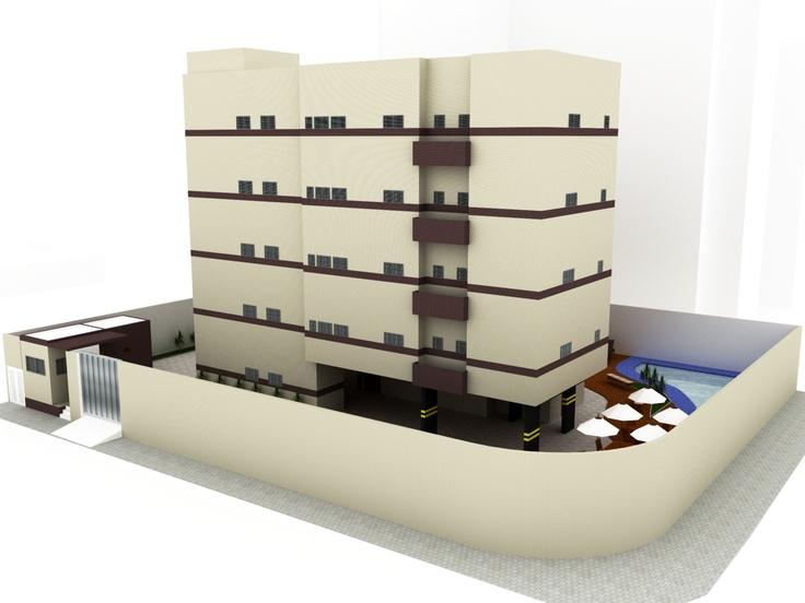 PROJETO DE PRÉDIO COM 4 PAVIMENTOS + PILOTIS - Desenho Arquitetônico II (3° período): Project, For Experiment, Projects For, My Projects