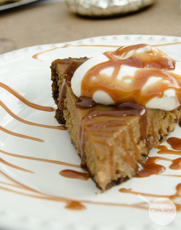 Pumpkin Pie with Chocolate Gingersnap Crust and Salted Dark Caramel ...