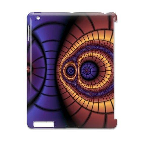 Iris Symmetry iPad Case by texnotropio at zippi.co.uk
