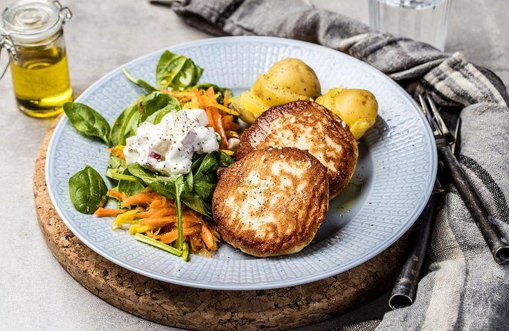 Lag denne enkle middagen med råkostsalat og frisk epledressing til.