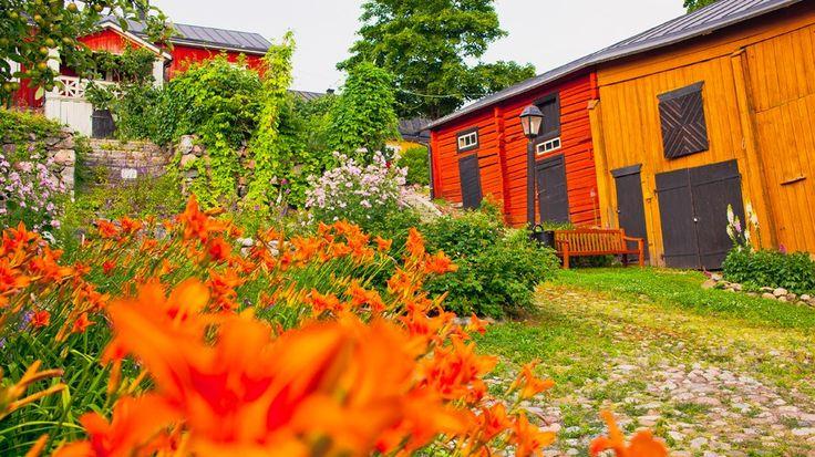 Porvoo Museum backyard www.visitporvoo.fi