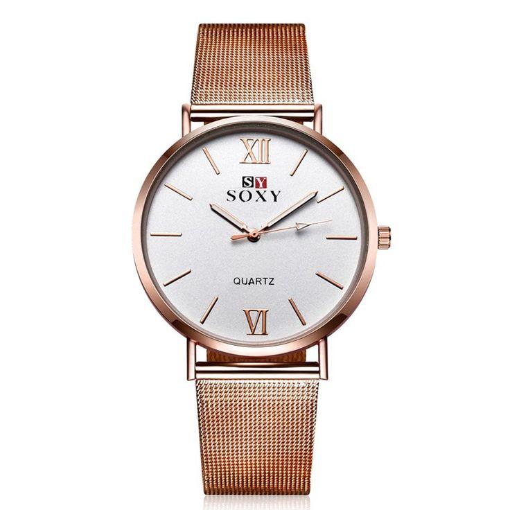 SOXY Vintage Watch Simple Alloy Rose Gold Women Watch