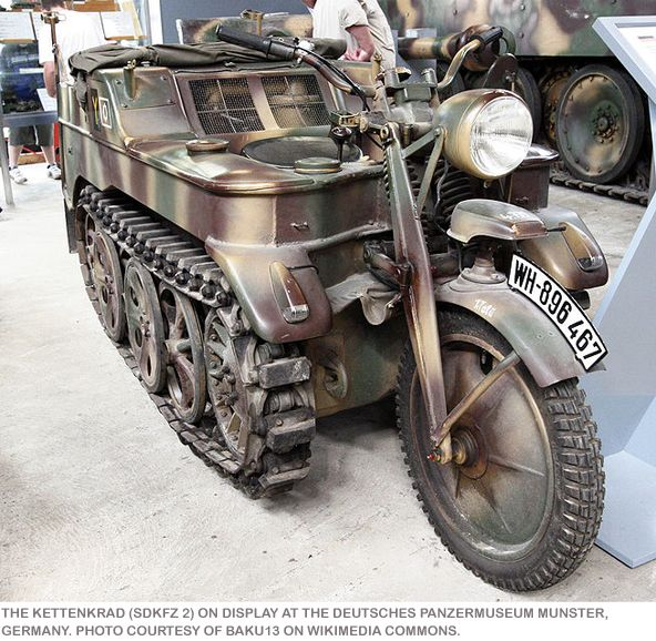The Keetenkrad -WWII German motorcycle tank I would love to make a grocery run on this