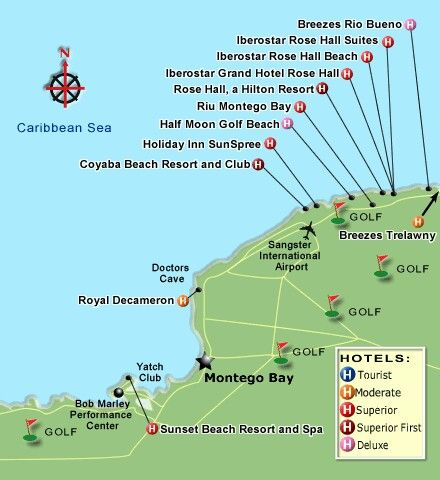 Montego Bay Map Of Resorts