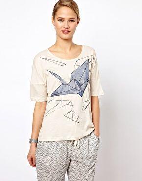 Selected Origami Print T-Shirt