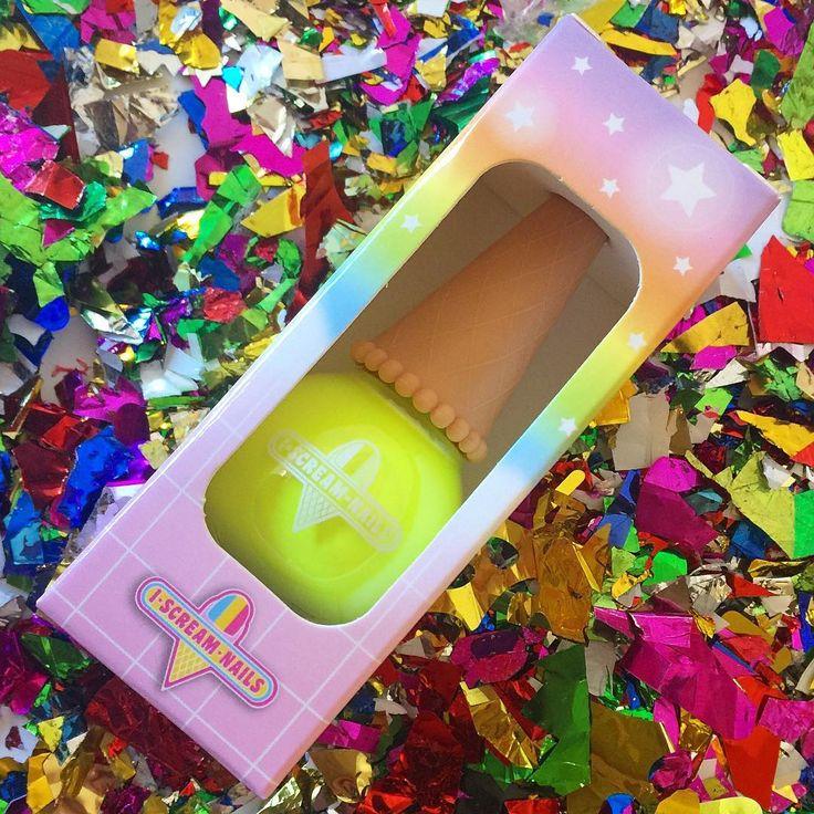 PINEAPPLE PUNCH - nail polish by I Scream Nails - sooooo opaque !!