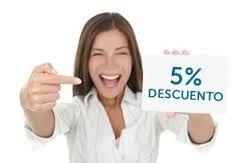 Solo por REGISTRARTE , 5%  de descuento en tu primer pedido.