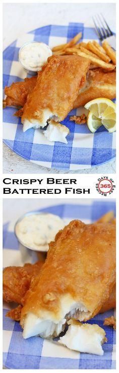 Crispy Beer Battered Fish - 365 Days of Easy Recipes