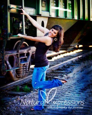 Train senior picture