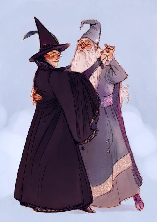 Minerva McGonagall and Albus Dumbledore by Natello's Art