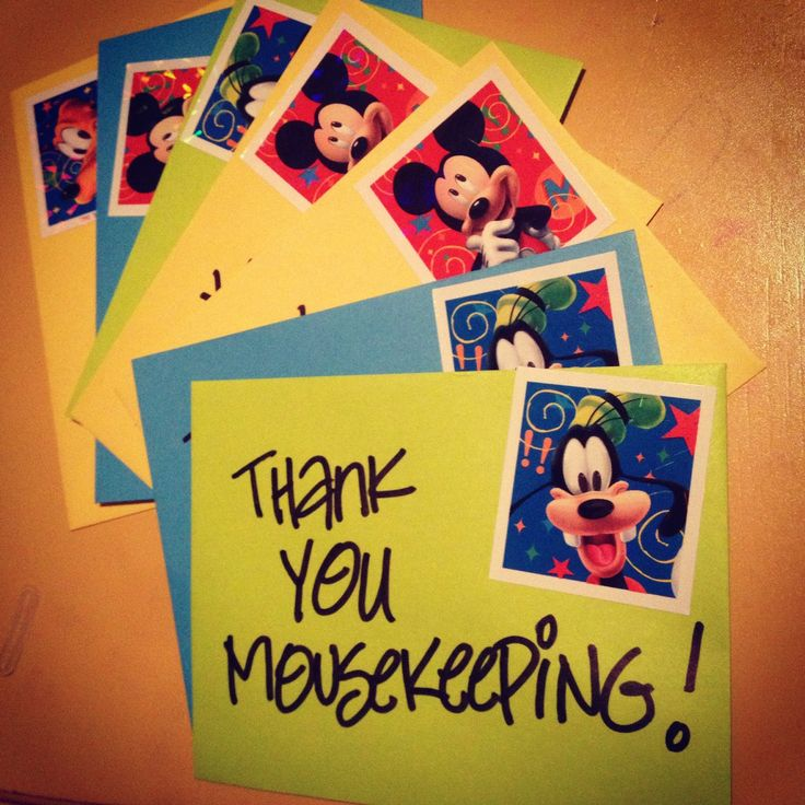 love these simple mousekeeping envelopes