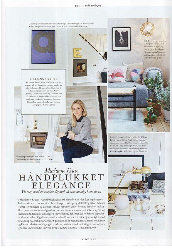 Wuth Cashmere in the Daniskh Elle Magazine