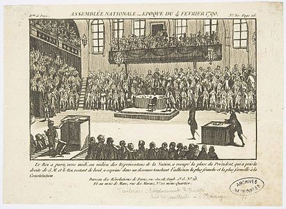 Meeting of the National Assembly (February 4, 1790) | Timeline of the French Revolution - Wikipedia