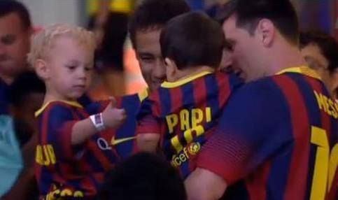 Neymar's  and Messi's son
