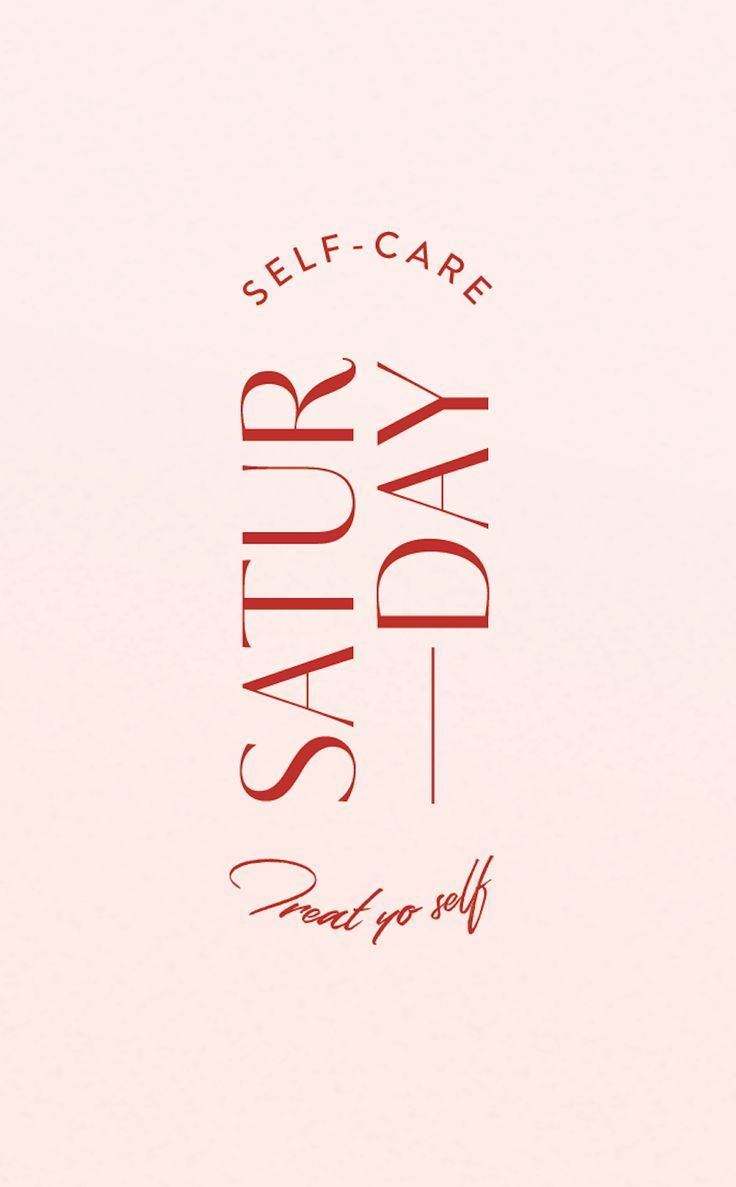 Graphic design experiment for today. Self-care Saturday. 100% making this a thing! I really need to slow down and take better care of myself—mentally and emotionally! Going to break out the facial steamer, a collagen eye mask, and drink some hot chamomile tea. Then it's time to relax with Netflix and let my brain turn off...