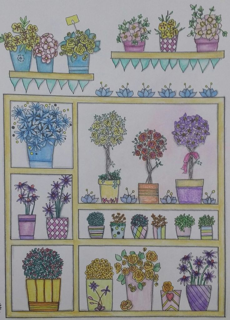 Coloring Book Whimsical Gardens By Creative Haven
