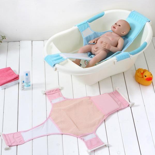 Baby Kids Bath Seat Safety Support Shower Adjustable Bathtub Bathing Shower Net Baby Bath Tub Baby Bath Baby Bathroom