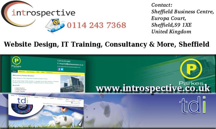 Introspective Website Design Sheffield by Web Designers in Sheffield. IT Training Courses Sheffield. Website Designers Sheffield.