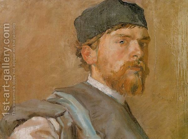 Stanislaw Wyspianski:Self-Portrait in a Robe of Ancient Polish Noble