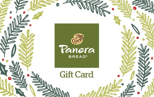 Panera Bread Gift Cards one of my favs is the green tea - brocoel cheesesoup ascdo bagel