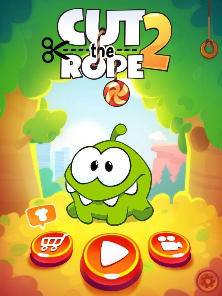Cut the Rope 2 | Splash | UI, HUD, User Interface, Game Art, GUI, iOS, Apps, Games, Grahic Desgin, Puzzle Game, Brain Games, Zeptolab | www.girlvsgui.com