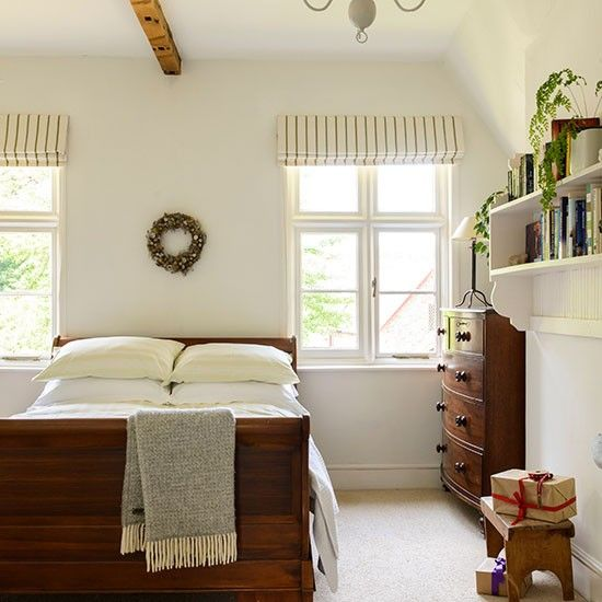 Mahogany wood and white bedroom | Bedroom decorating | Ideal Home | Housetohome.co.uk