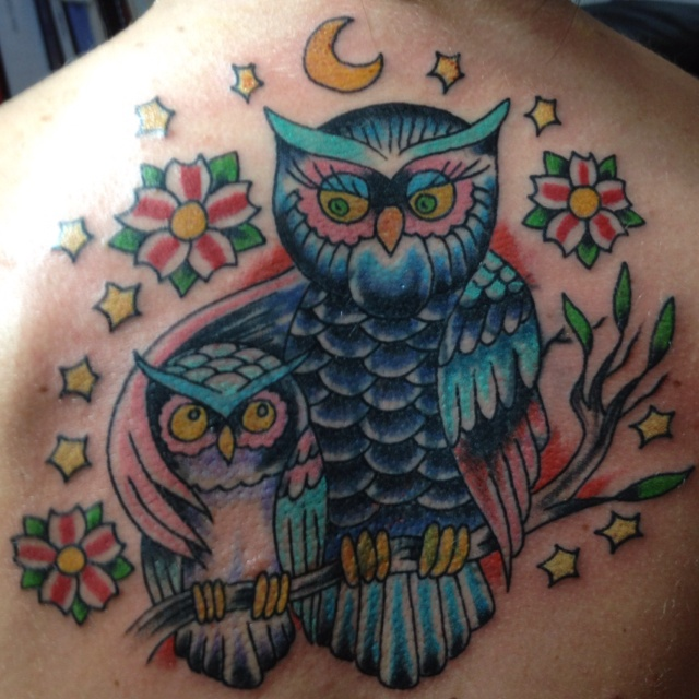 Mommy and me owl tattoo. Can't believe this is mine!