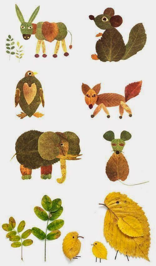 Eläimiä lehdistä