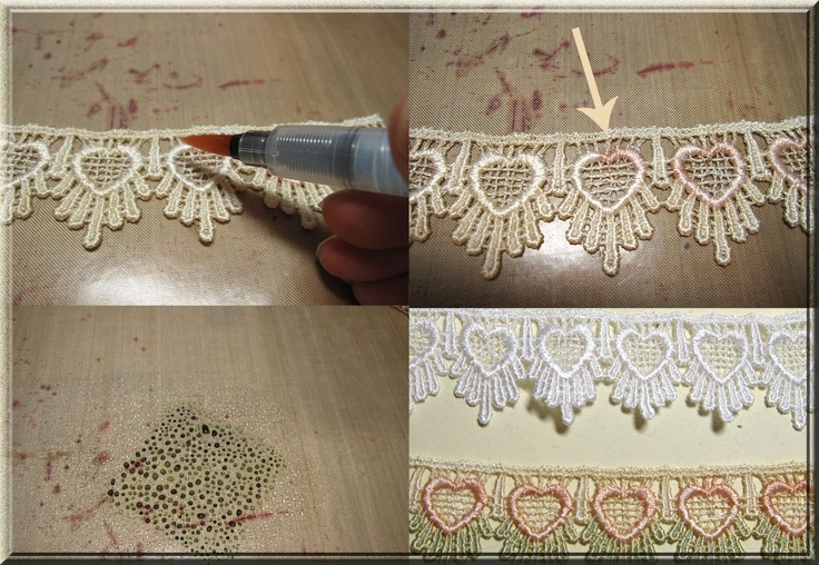 Venise Lace - how to dye