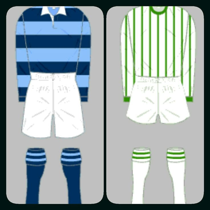 Forfar Athletic home kits for 1936-49 and 1963-65.