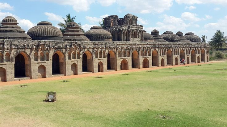 Elephant stables in #Hampi - view from the treasury