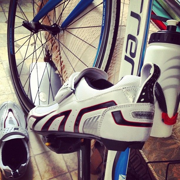 New cycling shoes for road bike.
