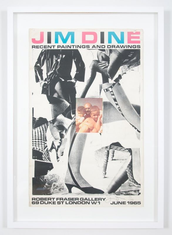 Rare Jim Dine signed poster from 54 items from 60 Chester Square