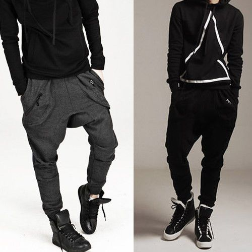 Casual Harem Baggy Jogging Hip Hop Dance Sport Sweat Pants Trousers kllmin