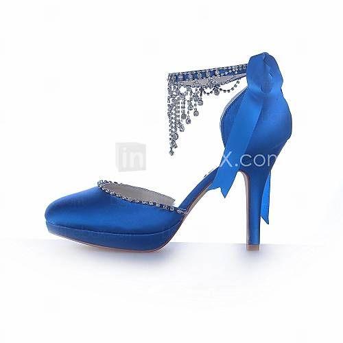 Zapatos de boda - Tacones - Punta Redonda / Tacones / Plataforma - Boda -Negro / Morado / Marfil / Plata / Champán / Azul / Amarillo / 2328981 2016 – €48.99