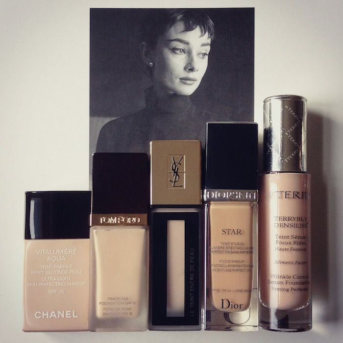 Chanel, Tom Forsd, YSL, Dior & By Terry.. Favourite foundations by Charlotte Wehtje!